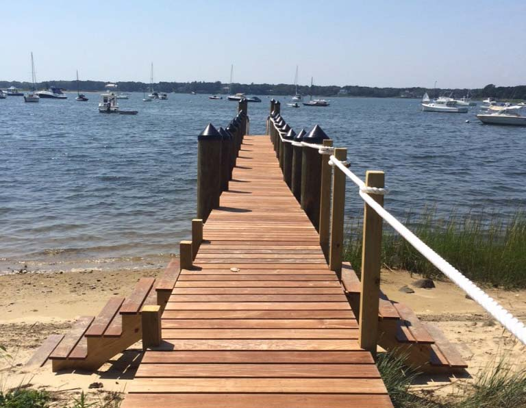West Bay Osterville pier construction 1