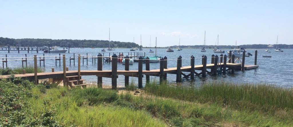 West Bay Osterville pier construction 2