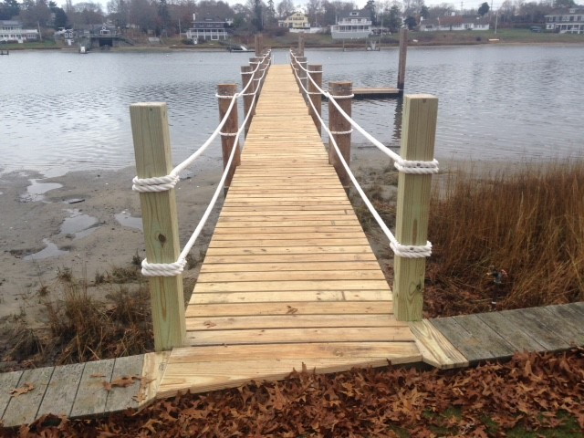 Onset, MA Pier Construction with Greenheart Pilings