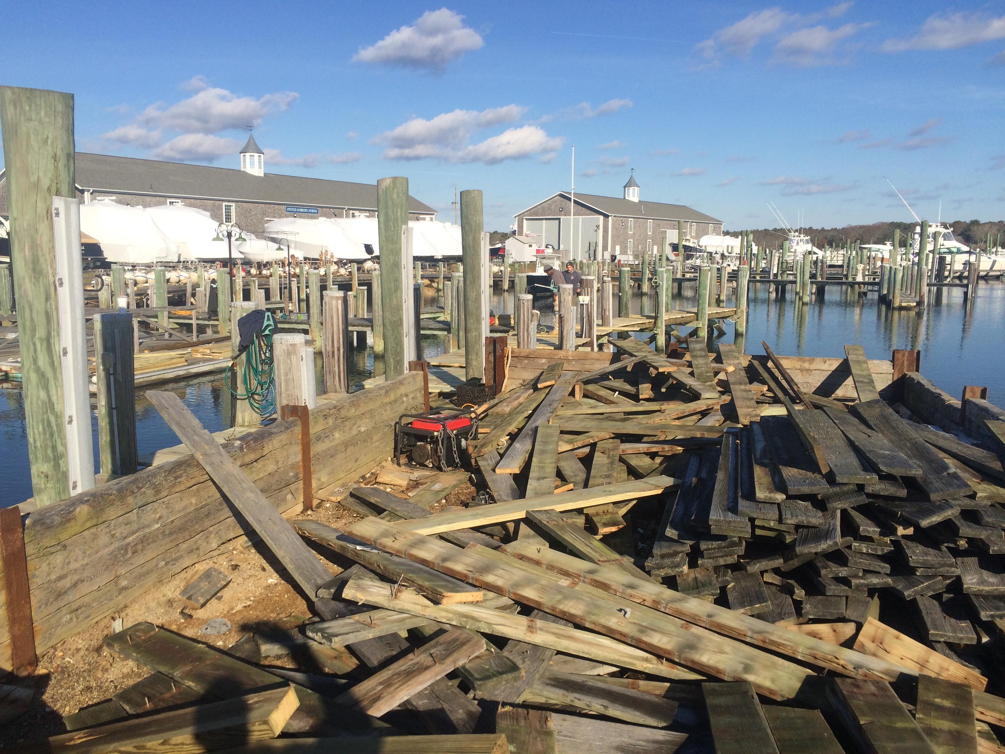 Osterville marine pier refinishing